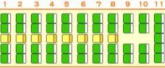 大型バス・53人乗り・座席図