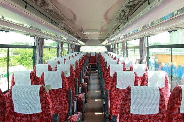 沖縄・貸切バス(ゆいバス)大型バス・車内